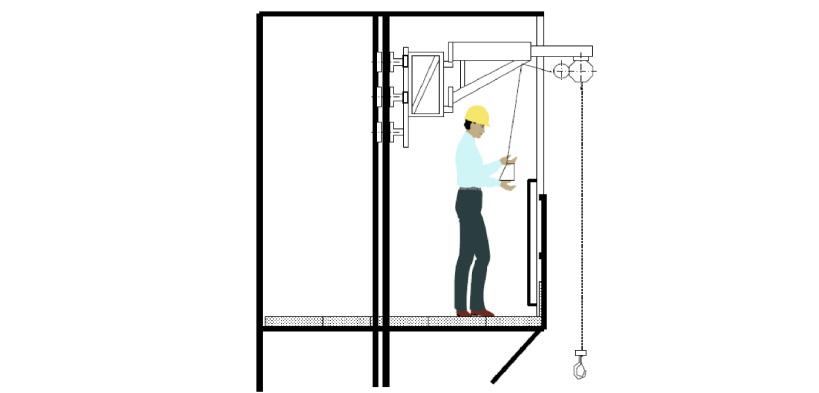 Le Attrezzature Per Il Sollevamento Dei Carichi Elevatore A Bandiera